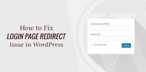 Login Redirect Error