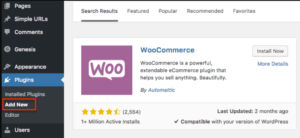 Installing your Ecommerce Plugin