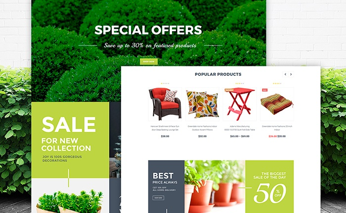 Garden Design WooCommerce Theme