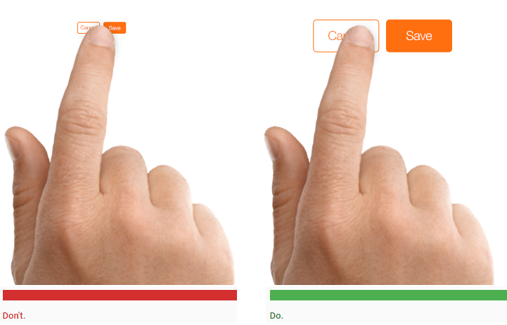 Design For Touch Not For Cursor
