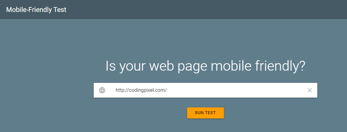 Take a Google Mobile-Friendly Test